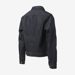 Raw Denim Jacket by Civilianaire, 1015831 Indigo Denim, blockout