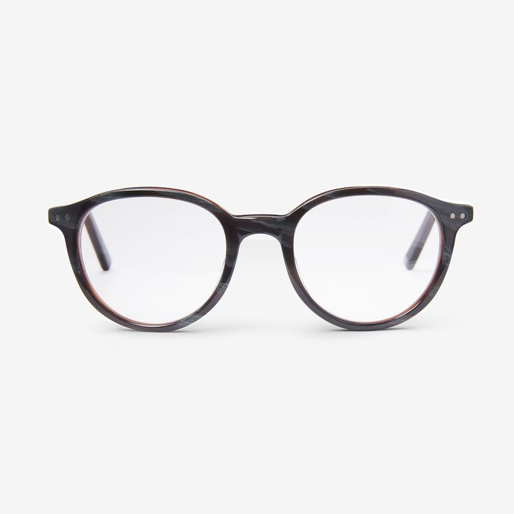 Round Frame Reader by Alan J Collection, 1014874 Grey Horn, blockout
