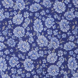 Liberty Print Linen Tie, 1017448 Blue, blockout
