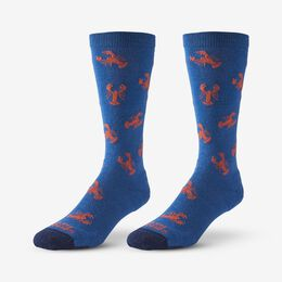 Lobster Pattern Merino Cool™ Dress Socks, 1017596 Blue, blockout