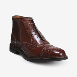Hamilton Shell Cordovan Cap-Toe Oxford Dress Boot, 4486 Chili / Chili Welt & Brown Edge, blockout