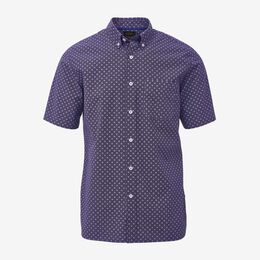 Small Print Short Sleeve Shirt, 1017461 Blackberry, blockout