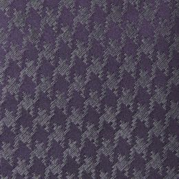 Handmade Silk Tie, 1016799 Blackberry Houndstooth, blockout