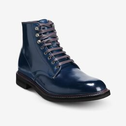 Higgins Mill Boot with Shell Cordovan Leather, 3077 Navy / Brown Welt & Edge, blockout