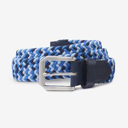 Nantucket Stretch Braided Belt, 1016712 Navy Camo, blockout
