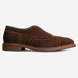 Strandmok Suede Cap-Toe Oxford with Dainite Rubber Sole, 4100 Snuff Brown, blockout