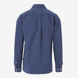 Indigo Cotton Sport Shirt, 1016556 Indigo Denim, blockout