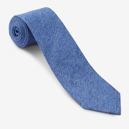 Silk Tussa Melange Tie, 1017449 Blue, blockout