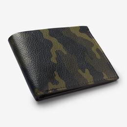 Devoe Street Camo Print Bifold Wallet, 1015375 Green, blockout