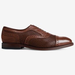 Strand Weave Cap-Toe Oxford, 2456 Chili, blockout