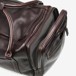 American Grain Collection - Half Moon Zip Duffle Bag, 9-DF Dark Brown, blockout