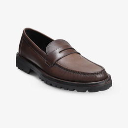 Harrison Penny Loafer with Lug Sole, 4668 Brown Texture, blockout