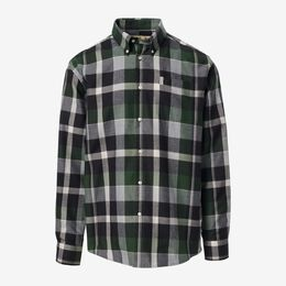 Dennis Highland Check Shirt, 1018413 Olive, blockout