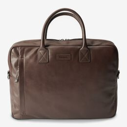 Sloan Attache Leather Briefcase, 1018493 Brown, blockout