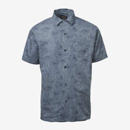 Short Sleeve Printed Aloha Shirt, 1017455 Blue, blockout