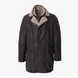 Silky Shearling Jacket, 1018374 Chestnut, blockout