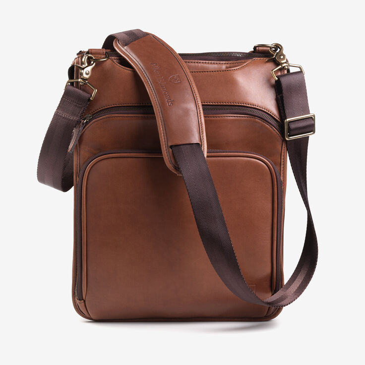 Saddle Leather Collection - Tech Backpack, 97005A Tan Saddle Leather, blockout