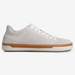 Porter Suede Derby Sneaker, 2347 Natural Perforated, blockout
