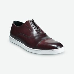 Park Avenue Shell Cordovan Oxford Sneaker, 4502 Burgundy, blockout