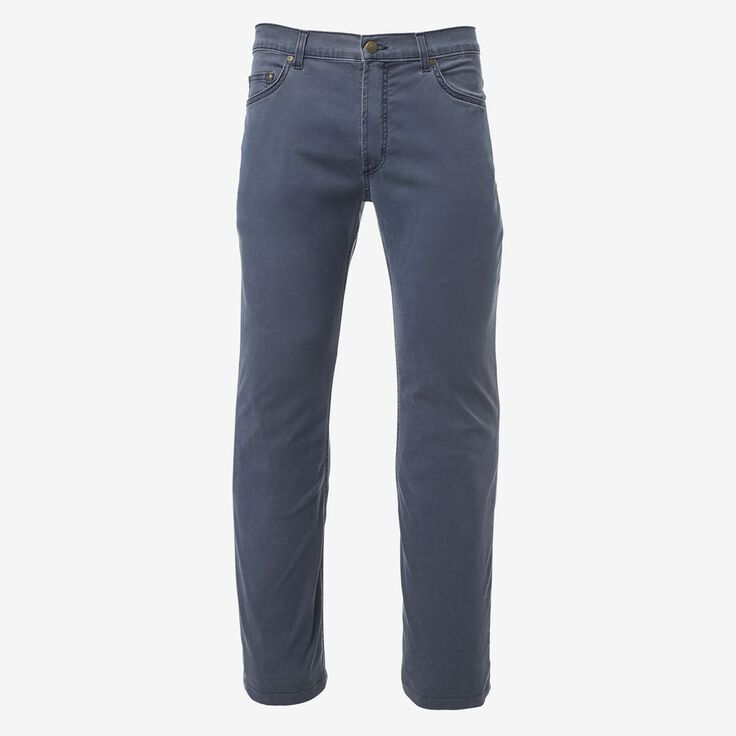 5 Pocket Straight Fit Pants, 1017471 Navy, blockout