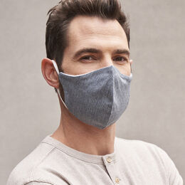 Cloth Face Mask 2 Pack, 1019370 Navy & Charcoal, blockout