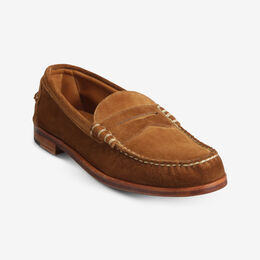 Sea Island Suede Loafer, 69130 Tan, blockout