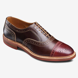 Rudolph Cap-Toe Oxford with Dainite Rubber Sole, 4628 Brown with Red Toe, blockout