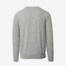 Crew Neck Sweater, 1017764 Grey Heathered Knit, blockout