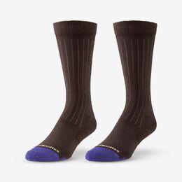 Mid-Calf Cotton Air™ Dress Socks, 1016194 Brown, blockout