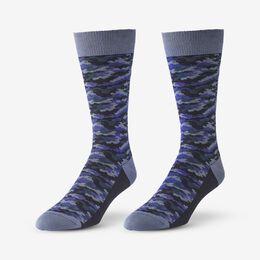 Mid-Calf Pattern Knit Dress Sock, 1016420 Purple Camo, blockout