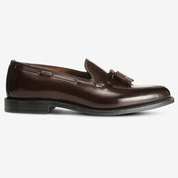 Grayson Shell Cordovan Dress Loafer, 3994 Brown, blockout
