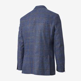 Windowpane Blazer, 1017770 Light Blue, blockout