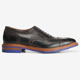Strandmok Cap-Toe Oxford with Dainite Rubber Sole, 5555 Black, blockout