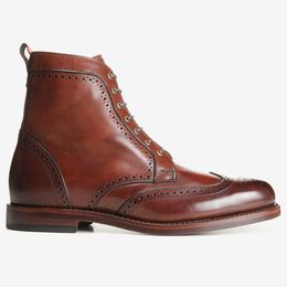 Dalton Wingtip Dress Boots, 0116 Dark Chili, blockout