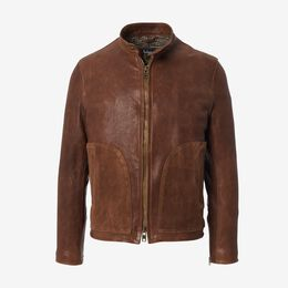 Cafe Racer Jacket, 1018375 Brown, blockout