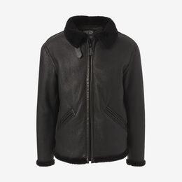 B-6 Sheepskin Jacket by Cockpit USA, 1016755 Black, blockout