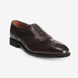 McAllister Shell Cordovan Wingtip Oxford, 4520 Burgundy / Black Welt & Edge, blockout