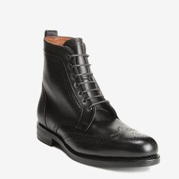 Dalton Wingtip Dress Boots with Dainite Rubber Sole, 1115 Black, blockout