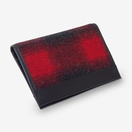 Buffalo Check Secretary Wallet by Pendleton, 1016565 Red/Black, blockout
