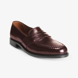 Randolph Shell Cordovan Penny Loafer, 4889 Burgundy, blockout