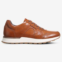 A-Trainer Lace-Up Sneaker, 3165 Walnut, blockout