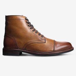 Landon Cap-Toe Boot, 3739 Walnut/Dark Walnut Toe & Heel, blockout