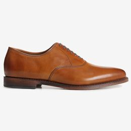 Factory 2nd - Carlyle Plain-toe Oxfords, 8832S Walnut Burnished Calf, blockout