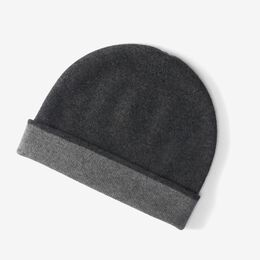 Reversible Cashmere Cap by Johnston's Cashmere, 1014899 Silver/Granite, blockout