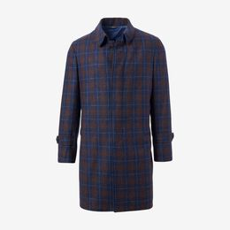 Dean Plaid Wool Topcoat by Southwick, 1016757 Red and Navy, blockout