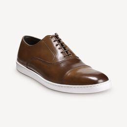 Park Avenue Shell Cordovan Oxford Sneaker, 4506 Bourbon, blockout