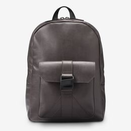 Fulton Leather Backpack, 1016618 Dark Grey, blockout