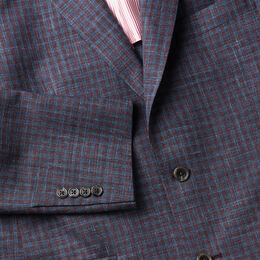 The James Mini Plaid Sport Coat, AE2072 Teal/Burgundy, blockout