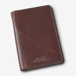 Leather Passport Holder, 1017427 Brown, blockout