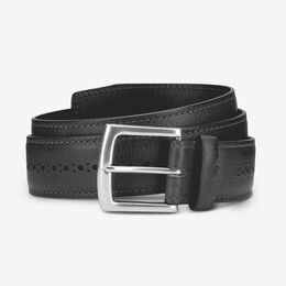 Brogue Street Belt, 1015643 Black, blockout